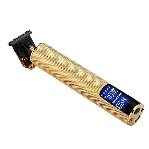 Cobeky Cortadora de pelo LCD T-Blade Trimmer inalámbrico eléctrico cortadora de pelo hombres peluquero máquina de corte de pelo para hombres oro