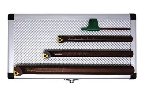 PAULIMOT Bohrstangen-Set 3-teilig mit Wendeplatten, 10, 12 und 16mm