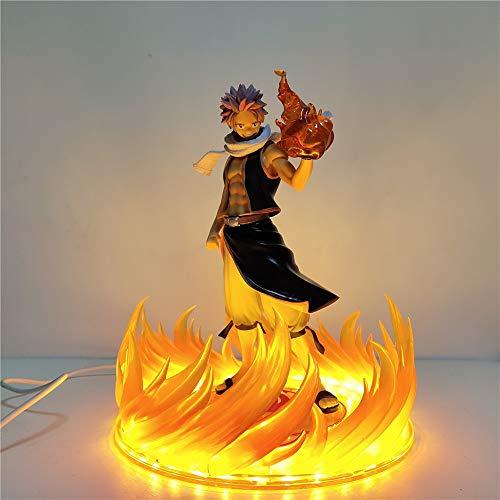 SPFOZ Decoración hogareña Fairy Tail Anime DIY Figuras Ethereus Natsu Dragneel Luces Nocturnas LED Figurales de acción PVC Brinquedos Efecto Coleccionable Figma