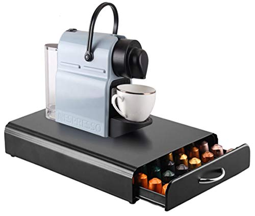 Ever Rich® Aufbewahrung für Nespresso-Kapseln, Schublade für 60 Kapseln