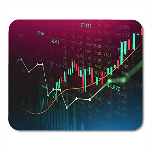 "RWYZPAD Mouse Pad Stock Market Trading Graph in Futuristic Suitable for Financial Mousepad 9.8"" x 7.9"" for Notebooks,Desktop Computers Mouse Mats, Office Supplies"