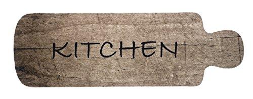 Küchenteppich Küchenläufer Kuechenlauefer Küchenmatte Läufer Teppichläufer Teppich Antirutschmatte Schmutzfangmatte Mate waschbar braun Kitchen Rustikal Landhaus Stil Holz Optik Motiv Größe 50x150 cm