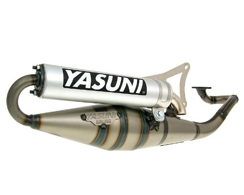 Yasuni Scooter Z aluminio Tubo de escape para Yamaha Jog R 50Ac, Jog RR 50Lc, Neos 50