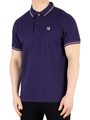 Fila Vintage Classic Tipped Polo Shirt Navy S