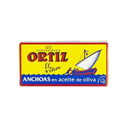 Conservas Ortiz El Velero - Anchoas en Aceite de Oliva 47,5 g