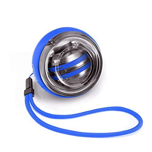 HUANGDAN Handgelenk Ball Gyro Ball Herren Unterarm Handgelenk Trainingsgerät Selbststart Schüssel Festigkeit Griff Kugelfestkugel,Blau