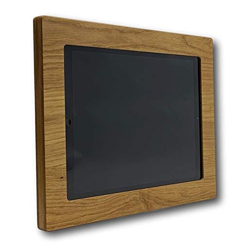 NobleFrames Tablet Wandhalterung für iPad Pro 12,9″ (2015 2017) aus Eiche   Massivholz   Echtholz   Wall Mount