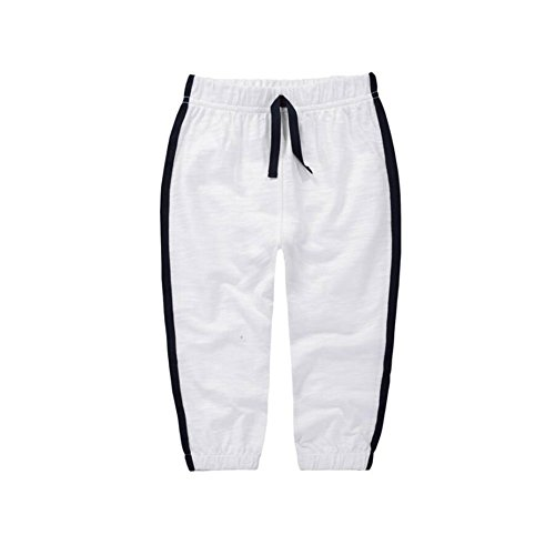 Baby Toddler Sweatpant - Unisex Cotton Long Trousers Pure Color Joggers Thin Pants White