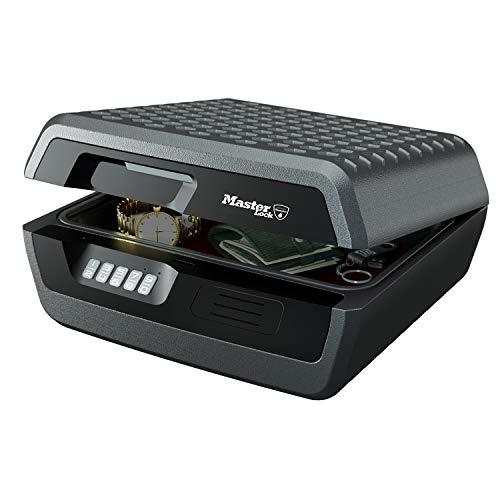 MASTER LOCK Feuerfeste Dokumentenbox Geldkassette 10L [Feuerfeste und Wasserdichte] [groß] [elektronische Kombination] - Für A4-Dokumente, Elektronik usw.