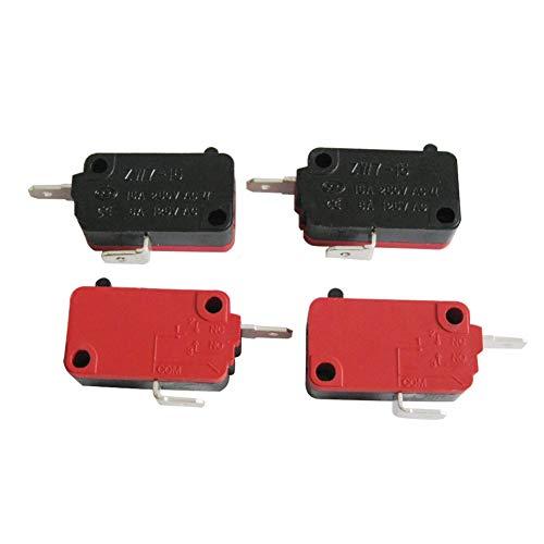 mxuteuk 4 piezas para DR52 16A 125/250V universal microondas horno puerta micro interruptor NC (normalmente cerrado) ZW7-15-R/NC