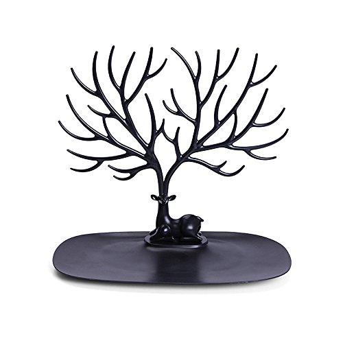 QXLhxuIo Schmuck Display Stand Rehkopf Stil,Für Ring Ohrringe Armband,Hirschkopf Schmuckständer Schmuck Anhänger Ohrringe Halskette Display-Ständer