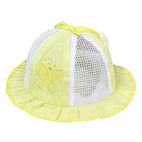 Inception Pro Infinite Giallo - Cappello - Cappellino - Bimba - Bambina - Neonata - Traforato - Estate - Estivo - Farfalla - Righe - Parasole - Accessori -...