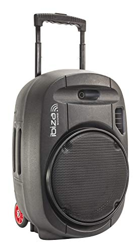 "PORT12UHF - MKII - Ibiza - Sistema De Sonorización Portátil Autónomo 12""/700W CON USB - MP3, REC, VOX, BLUETOOTH, 2 MICROS UHF, Negro"