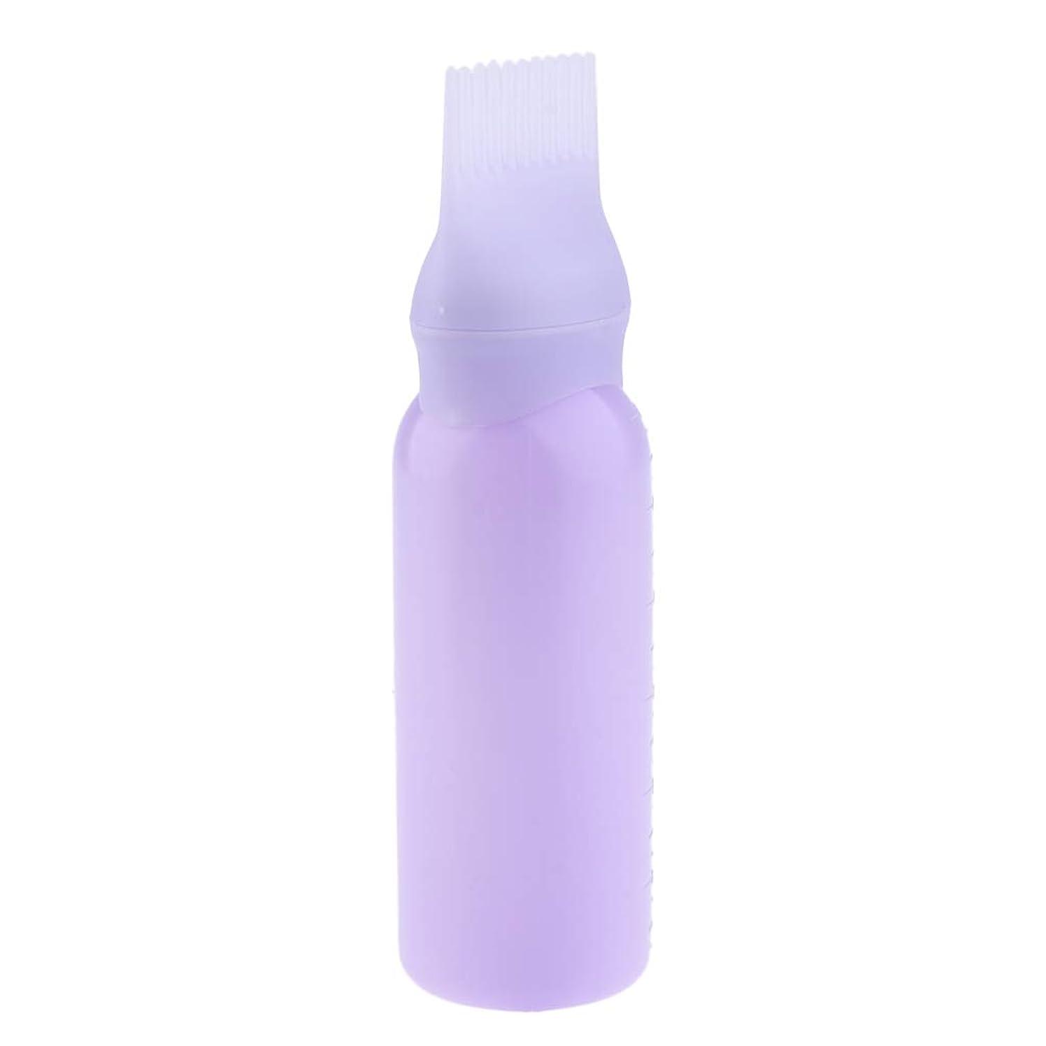 上陸嘆く種類ヘアダイボトル ヘアカラー ヘア染色 ディスペンサー アプリケーター 3色選べ - 紫