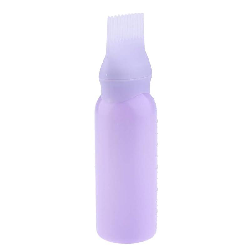 疑い者肝喜劇ヘアダイボトル ヘアカラー ヘア染色 ディスペンサー アプリケーター 3色選べ - 紫