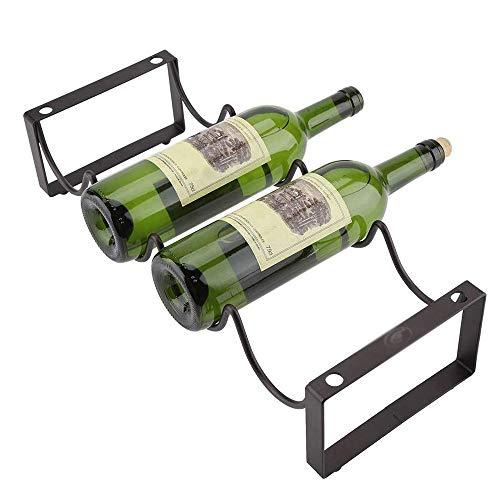 Jiaduobao - Soporte de vino de metal para colgar al revés para botellas de vino