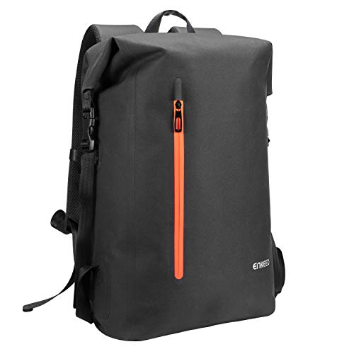 ENKEEO Waterproof Roll Top Backpack 35L Men & Women Rucksack with Safe Back Whistle, Casual Daypack Bag 15.6 Inch Laptop Bag for Travel, School, Outdoor,Business(13.4''L x 24.4''H x6.1''W)