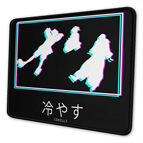 Chill Samurai Champloo Mouse Pad Gaming Mouse Pad Anti Slip Neoprene Base with Stitched Edge Computer Pc Mousepad for Home Office