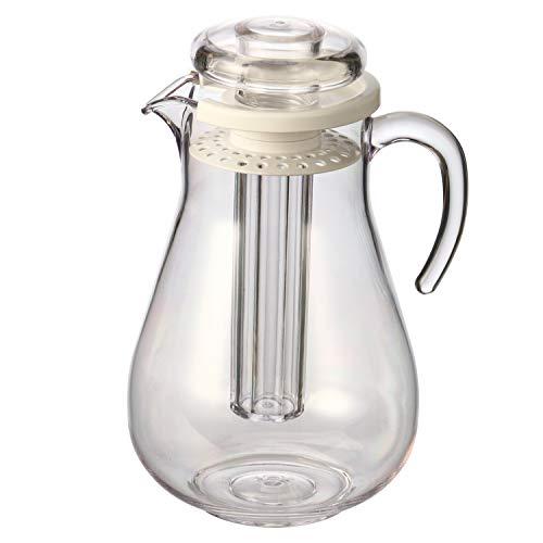 bremermann Aroma- & Kühlkrug, mit Kühlstab & Sieb, 2,8 Liter Kühlkaraffe (Weiß)