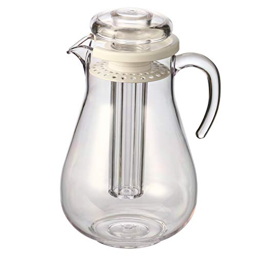 bremermann Aroma- und Kühlkrug, mit Kühlstab und Sieb, 2,8 Liter Kühlkaraffe (Weiß)