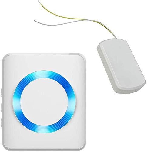 Metzler Funksignal Weiterleitung - Funkkonverter für bestehende Klingelanlagen - Funk-Gong Set (MT1 - Batteriesender, Batterie Empfänger)