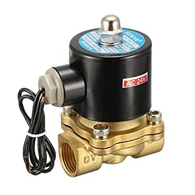 """Amico 2W-160-15 1/2"""" Two Way Air Water Oil Gas Solenoid Valve AC 24V from Amico"""