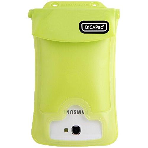 DiCAPac WP-C2 - Funda resistente al agua y a los golpes para Samsung Galaxy Note 3, Samsung Galaxy Grand, Dell Streak, Sony Xperia ZL y Samsung Galaxy S3 y S4, color verde