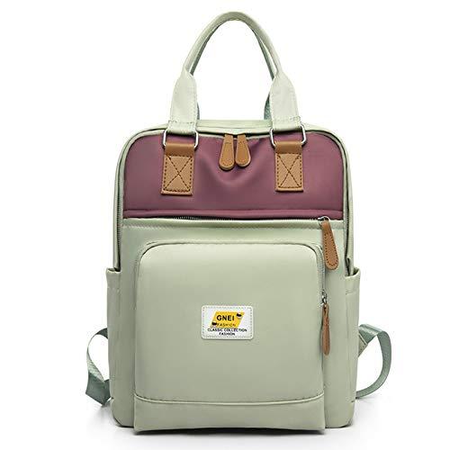 Ladies Backpack Nylon Waterproof School Bag Anti-Theft Backpack Outdoor Travel Shoulder Bag