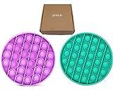 ZPPLD 2pcs Push Pop Bubble Fidget Sensory Toy Autismo Special Needs Stress Relief,Lavabile e Riutilizzabile (Confezionamento Sottovuoto)