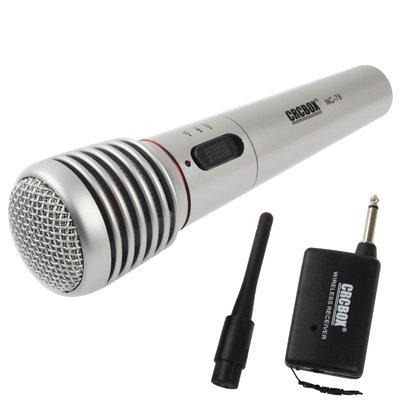 Xyamzhnn Micrófono, micrófono Vocal de Mano inalámbrico/con Cable de micrófono con el Receptor y Antena