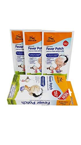 Tiger Balm Kühlpflaster, 2 Boxen Tigerbalsam, für Kinder (ab 2 Jahren) und Erwachsene, hochwertiges Hydrogel-Patch, langlebig für 8 Stunden Größe: 5 x 11 cm, 6 Bögen / 1 Box