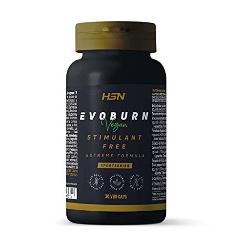 Evoburn Sin Estimulantes de HSN | Suplemento para Mujeres y Hombres | Extractos Herbales para Máxima Efectividad | Vegano, No-GMO, Sin Gluten, Sin Lactosa | 30 Cápsulas Vegetales
