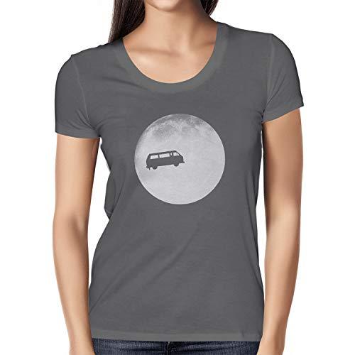 Nexxus Full Moon Bulli T3 - Damen T-Shirt, Größe M, grau