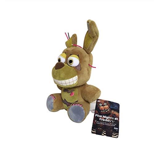 zhengboasd Juguetes Blandos, Llegada Five Nights At Freddy'S 4 FNAF Bonnie Rabbit Peluches Peluches Suaves Juguetes Muñeca para Niños Regalos para Niños 20cm Verde