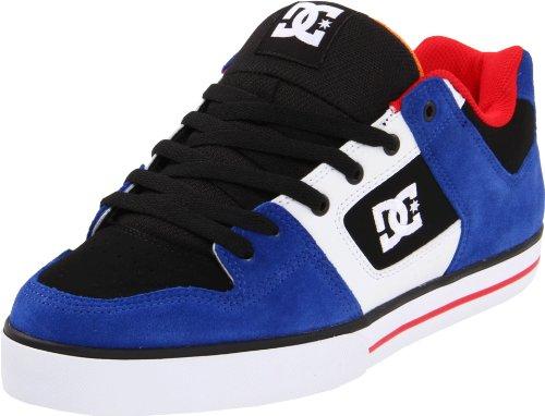 DC Shoes Pure Mens Shoe Pure-M - Zapatillas de Cuero para Hombre, Color Azul, Talla 40.5