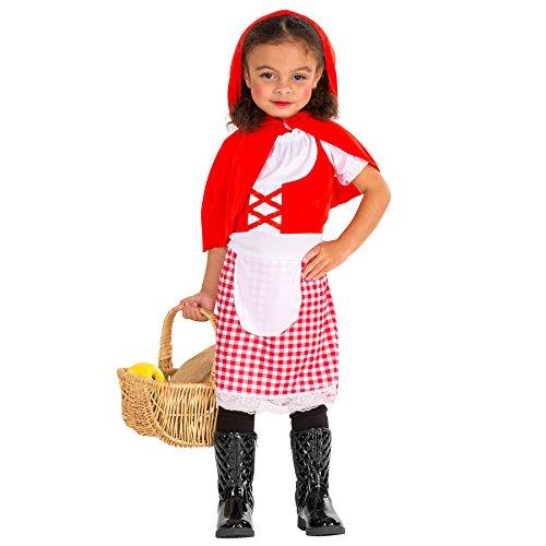 TecTake dressforfun Süßes Kinder Rotkäppchen Mädchen Kostüm Kleid mit abnehmbarem Kapuzen-Cape (10-12 Jahre | Nr. 300015)
