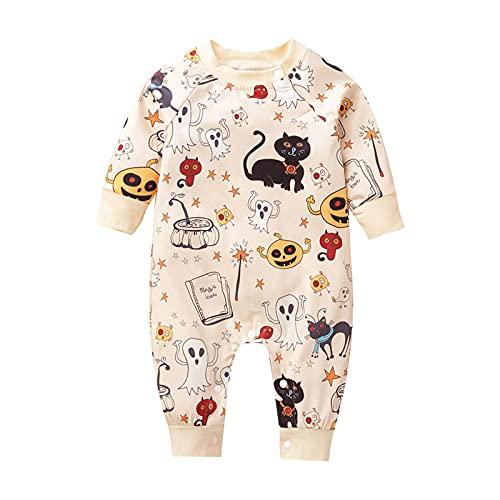 MOVERV Mono para bebé Halloween Calabaza Enterizo Navidad Mameluco Pijama...