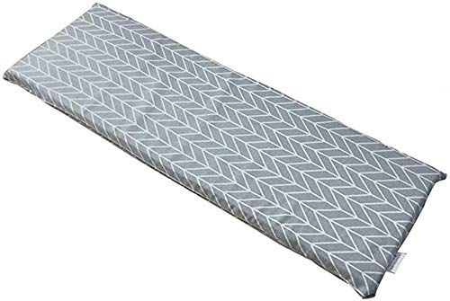Cuscino Lungo, per Panchina da Giardino Resistente e Comodo per Panca da Esterno ed Interno, Soffice e Comodo Cuscino per 2 o 3 posti (Stile 2,87 X 28 cm)