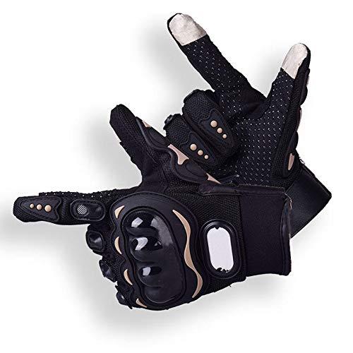 feilai Travel Supplies 1 Paar Fingerhandschuhe Outdoor Laufen Wandern Camping Warme Handschuhe Winddicht Touchscreen Anti-Rutsch-Fäustlinge (Farbe: Schwarz, Größe: XL)
