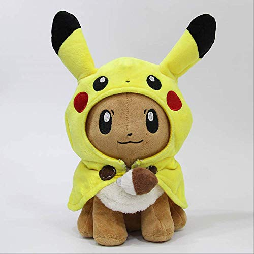 Pluche knuffels,Elf Pokemon Mantel Pluche Pop Ibrahimovic Cos Crossdresser Speelgoed 30cm a