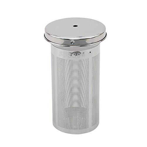 Home kitchen accessories Outils en acier inoxydable de forme de cylindre avec couvercle maille filtre accessoires TeaRasseur de thé Coffee Cuisine Durable Cuisine Infuser réutilisable can be reused