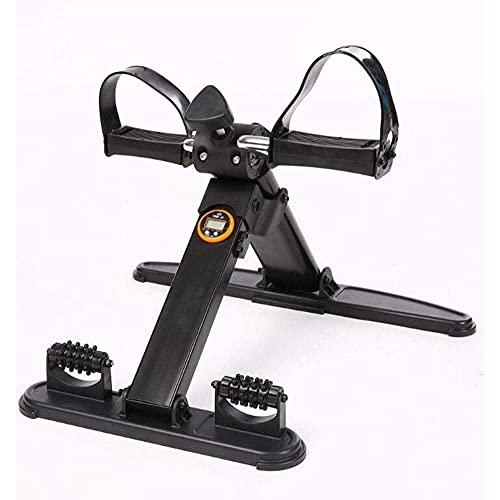 WGFGXQ Mini Bicicleta de Ejercicio Plegable portátil para el hogar Ejercitador de Pedales Gimnasio Fitness Brazo para piernas Entrenamiento Cardiovascular Resistencia Ajustable con Pantalla LCD par