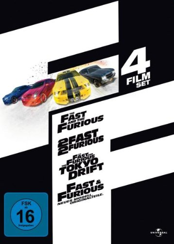 Fast and Furious 1-4 - Limited Jumbo Steelbook [4 DVDs]