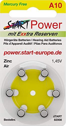 START - 60 Batterien für Hörgeräte - Typ A10-1.45V - 100mAh - PR70