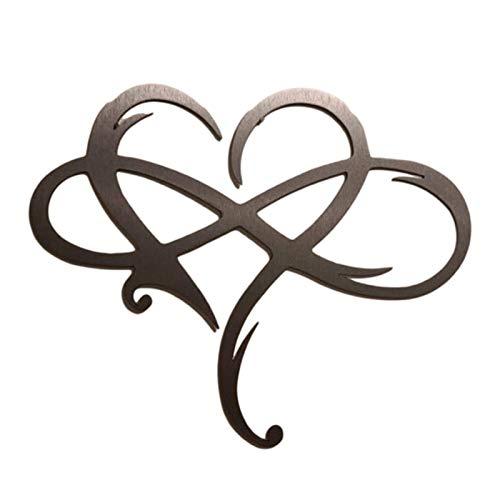 Décoration murale en métal en forme de cœur infini - Décoration murale en métal - Décoration murale pour la maison ou un mariage Décoration en fer forgé décoration intérieure suspendue décoration