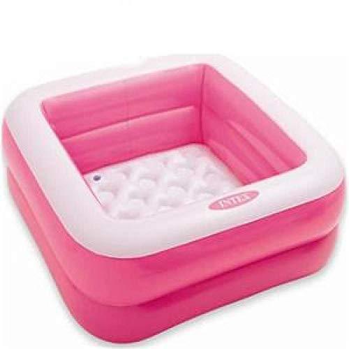 Baby Opblaasbaar Zwembad Kinderen Wastafel Bad Piscina Portable Outdoor Ball Kinderzwembad Kid Water Play Home Beach Game-Vierkant roze