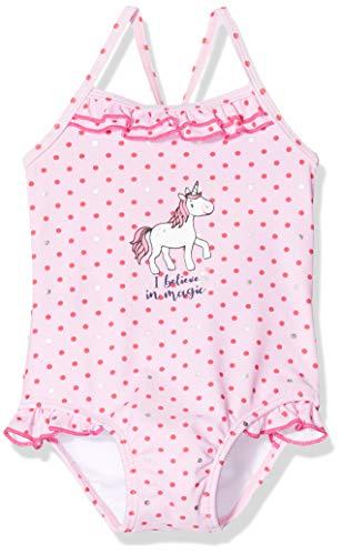 SALT AND PEPPER baby-meisjes badpak mit Pünktchen, Rüschen am Saum und Einhorn Druck