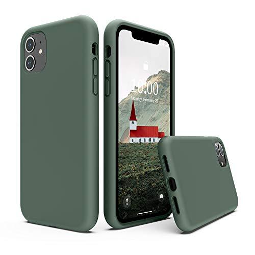 SURPHY Cover iPhone 11, Custodia iPhone 11 Silicone Liquido Cover Antiurto con Morbida Microfibra Fodera, Ultra Leggero Cover Case per iPhone 11 6.1 P