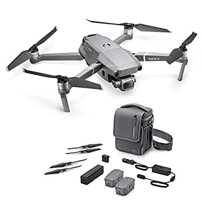 DJI Mavic 2 Pro (UK) - Drone Mavic 2 Pro + Mavic 2 Fly More Kit Combo, Quadcopter with Hasselblad Camera HDR Video, Accessories for Mavic 2 Pro Drone Included, Flight Battery, Propellers and Others by Dji