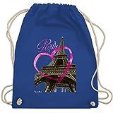 Shirtracer Städte - I love Paris - Unisize - Royalblau - paris beutel - WM110 - Turnbeutel und...